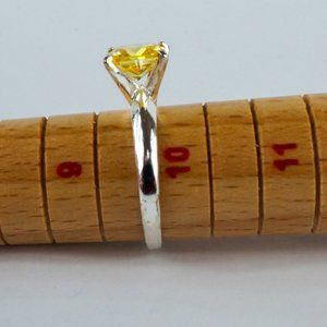 Jewelry - Marsala Ring Citrine Solitaire Sterling Silver